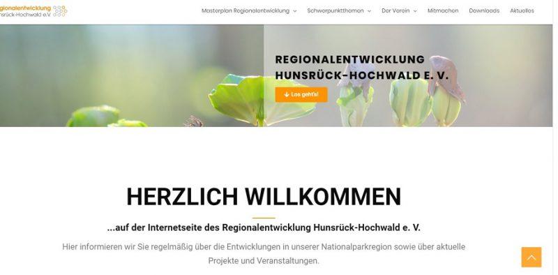 webdesign regionalentwicklungsverein